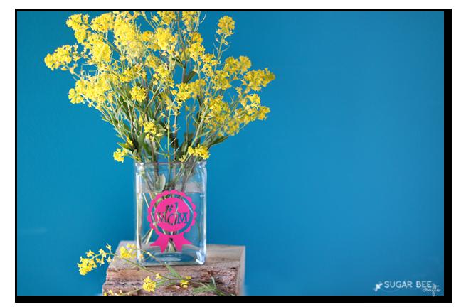 vinyl vase gift idea