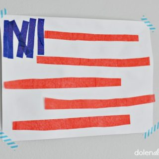 Kids american flag craft