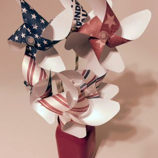 Papercrafting red white blue pinwheels pinwheel bouquet 774x1024