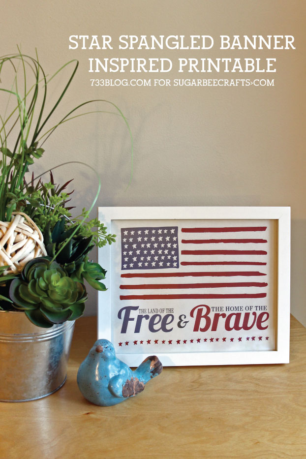 Star Spangled Banner Printable from @733blog
