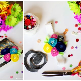 Felt flower bookmark tutorial
