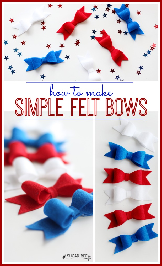 how to make simple felt bows