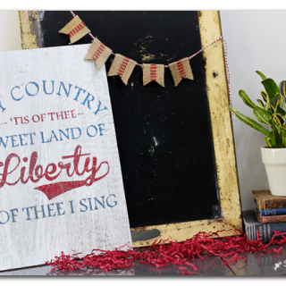 Land of liberty diy wood sign