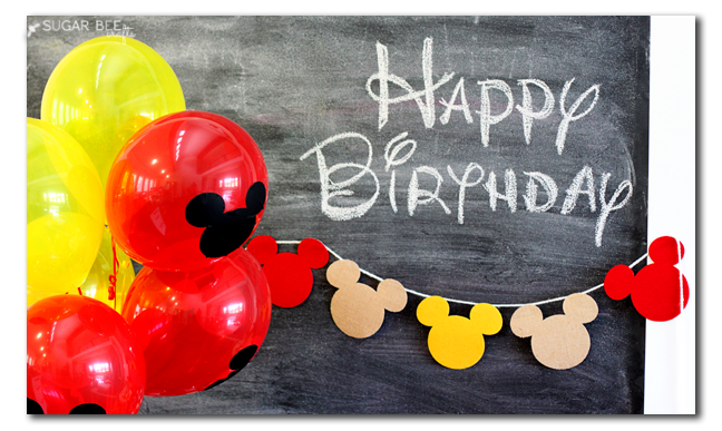 Mickey Mouse Party Ideas - Sugar Bee Crafts