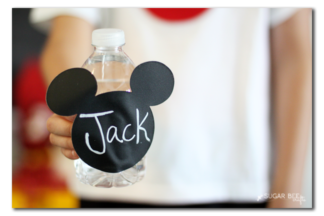 mickey mouse party waterbottle