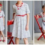 DIY Altered Sundress, Red White Blue