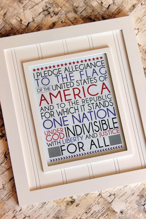 Pledge of Allegiance Printable from @733blog