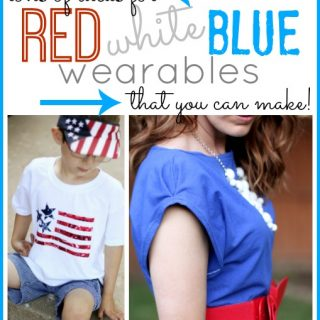 Red white blue outfits and accessories