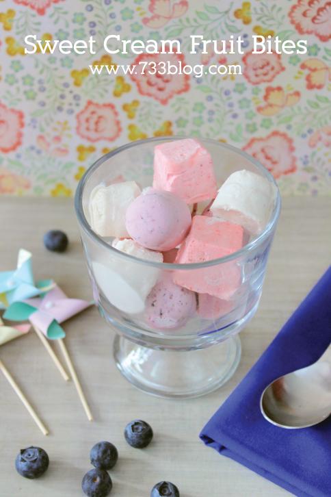 Sweet Cream Fruit Bites from @733blog