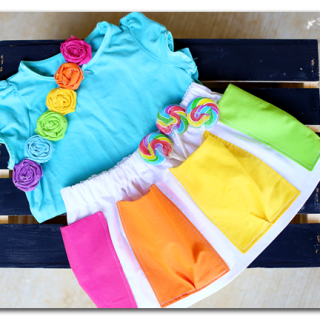 Rainbow pocket skirt tutorial