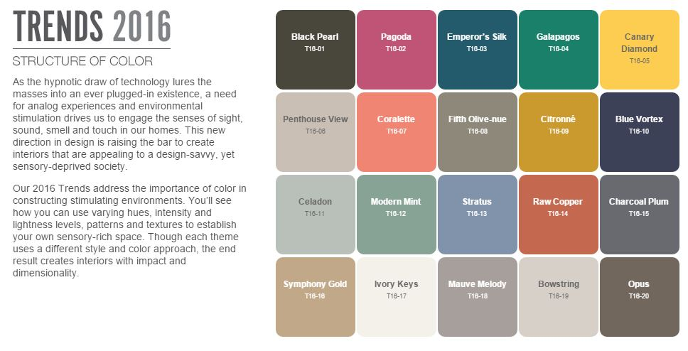 behr color trends 2016