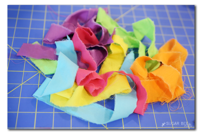 fabric scraps strips