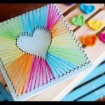 how to make rainbow heart string art