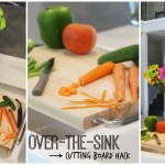 Over-the-Sink IKEA Cutting Board Hack