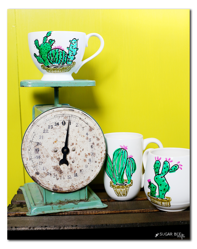 Diy Cactus Mug Gift Sugar Bee Crafts
