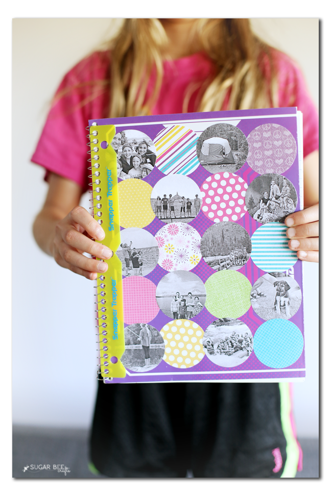 photo collage notebook for back to school