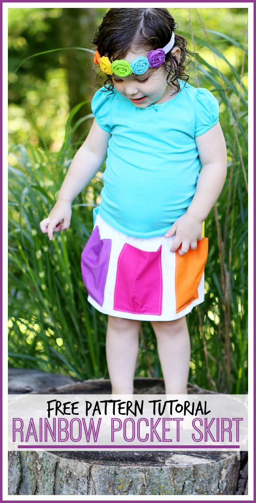 rainbow pocket skirt pattern tutorial free