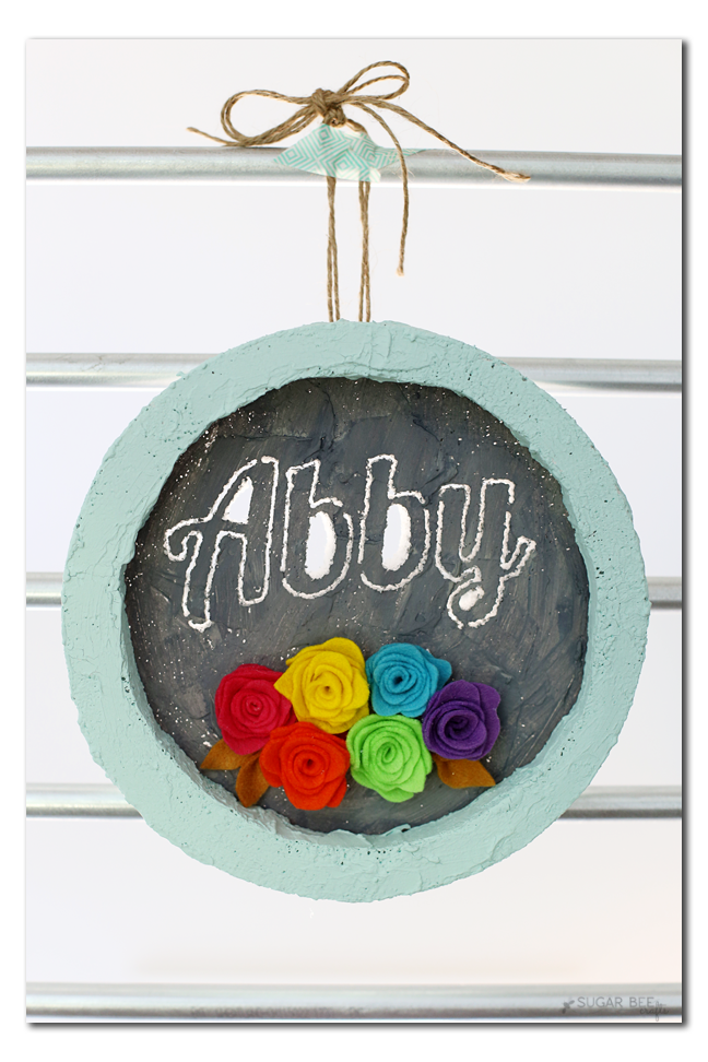 Circular Foam Frame with name cutout