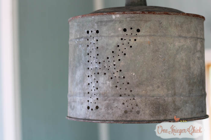Make a one of a kind Monogrammed Light Fixture- perfect for an outdoor area!-8- OneKriegerChick.com-1