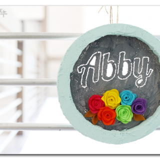 foam circle frame with name cutout