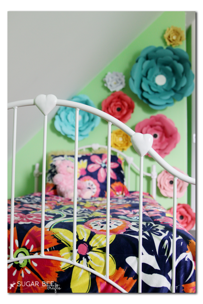 spraypainted metal bedframe