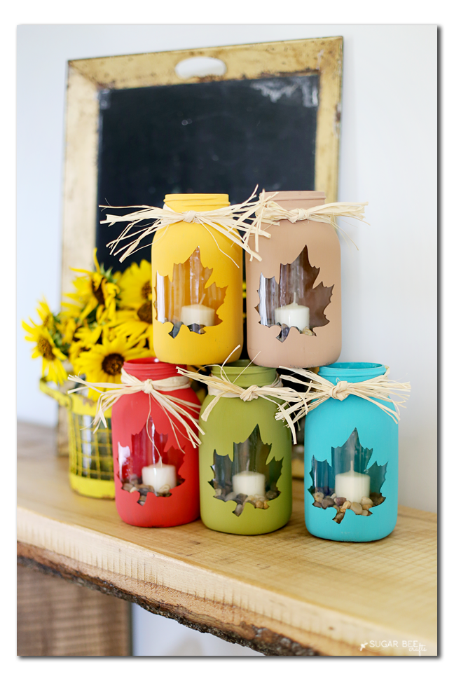 Fall mason jar craft sugar bee crafts for Art and craft for decoration