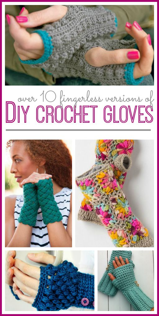 fingerless glove crochet pattern free list