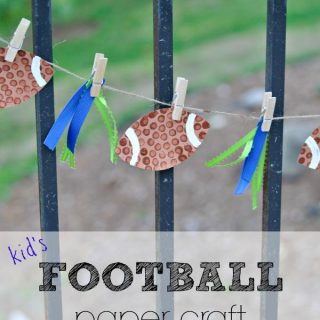 football paper craft for kids