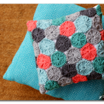 Crocheted Yo-Yo Pillow (FREE pattern!)… and giveaway…