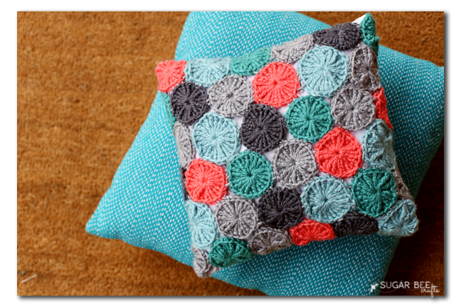 free crochet pattern yo yo pillow copy