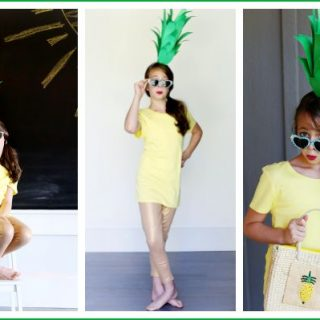 Super Easy DIY Pineapple Costume