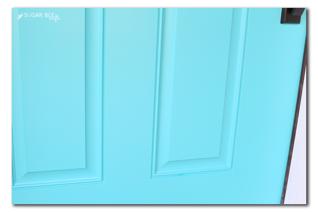 Caicos Turquoise front door paint color behr