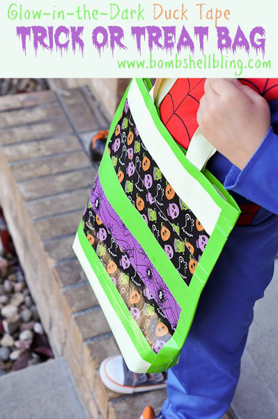 Glow-in-the-Dark-Duck-Tape-Trick-or-Treat-Bag
