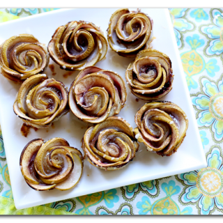 apple dessert roses tart cups