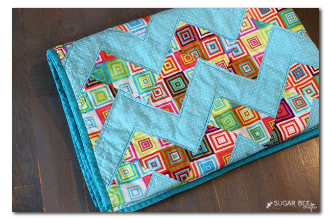 colorful easy zig zag quilt diy
