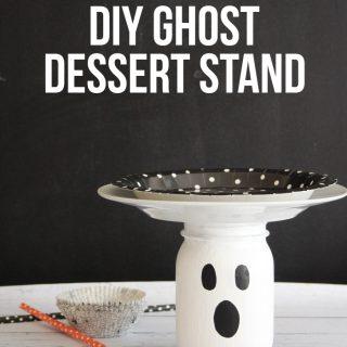 Diy ghost dessert stand title