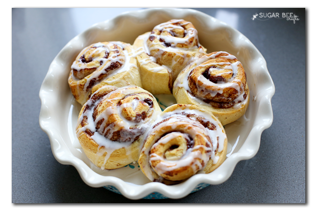 easy peasy cinnamon rolls from a can