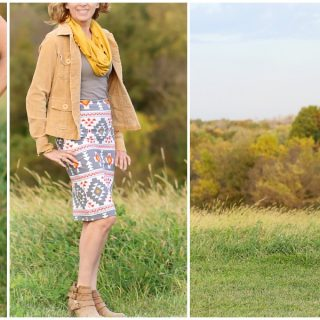 Four corners knit pencil skirt