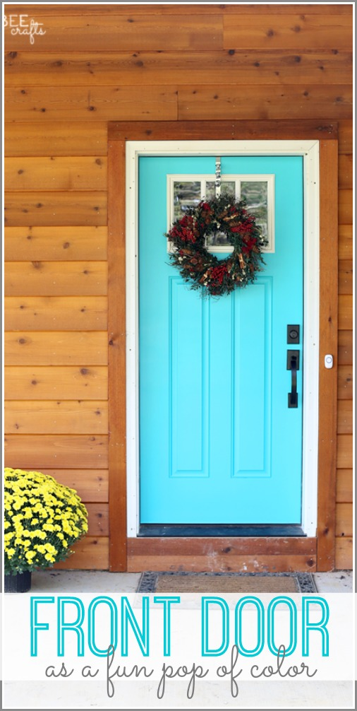 front door color pop
