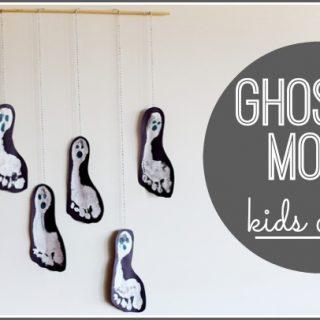 Ghost mobile kids craft idea