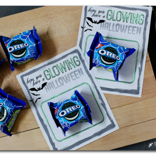 glowing halloween free printable