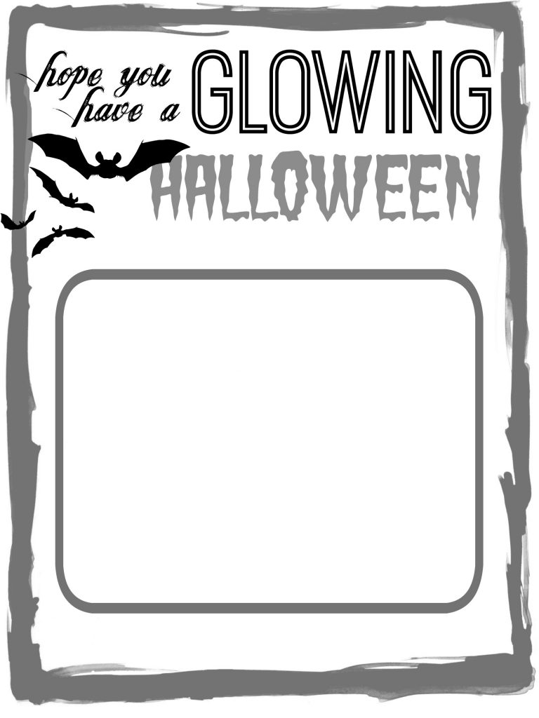 glowing halloween printable