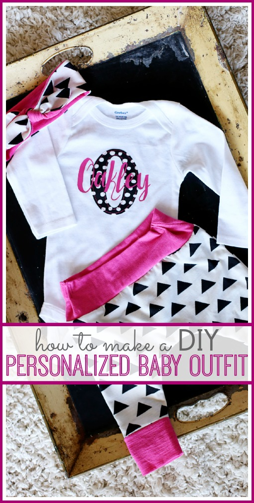 how to make a DIY personalized baby outfit