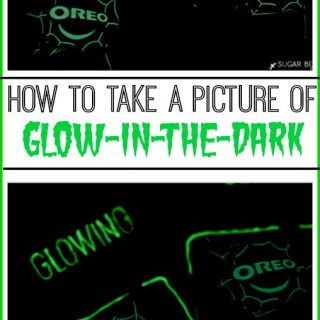 how to take a glow in the dark picture