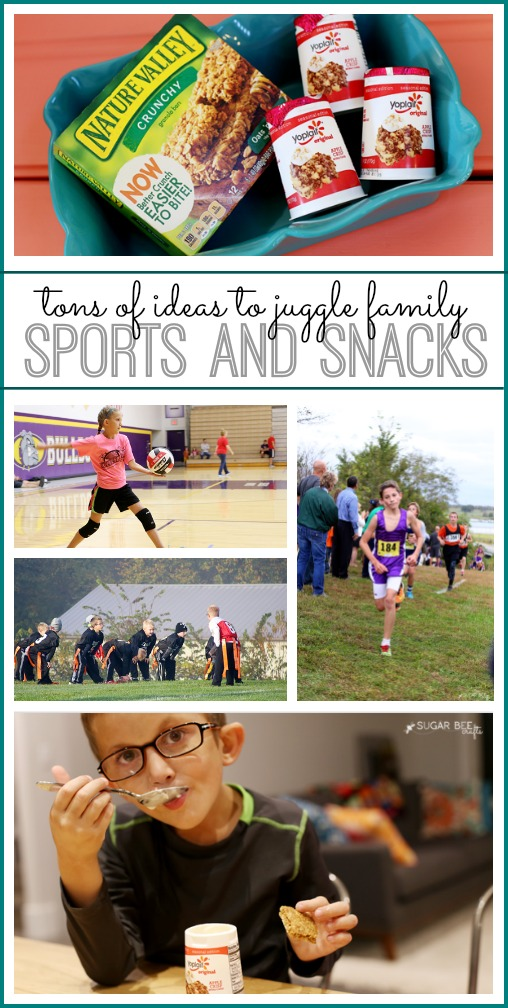juggle family sports and snacks
