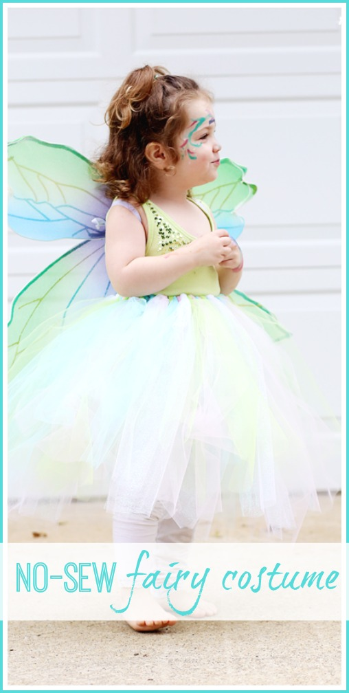 make a no sew fairy costume