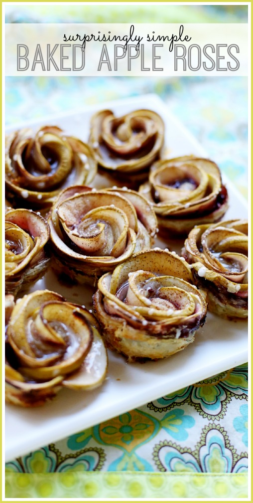 simple baked apple roses