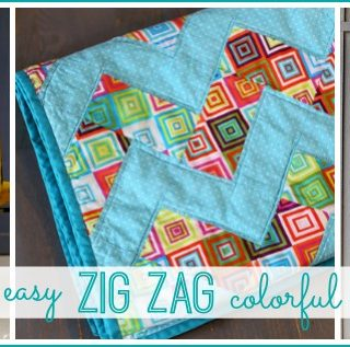 Super easy zig zag chevron colorful quilt