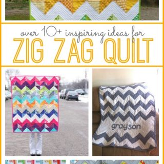 Tons of zig zag quilt ideas