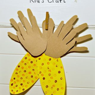 Indian corn kids craft title